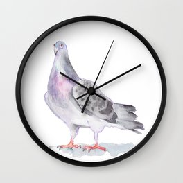 Nervous pigeon Wall Clock