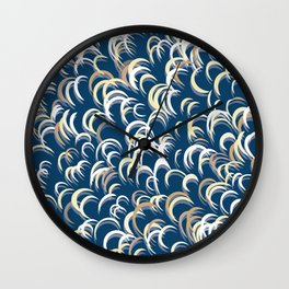 Eclipse Reflections Wall Clock