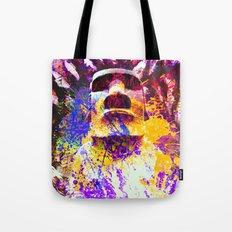 moai in Purple Tote Bag