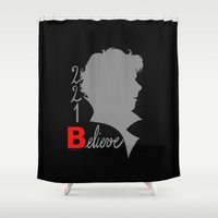 221b Shower Curtains featuring Sherlock - 221B: Believe by TheScienceofDepiction