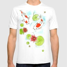 Pond Mens Fitted Tee White SMALL