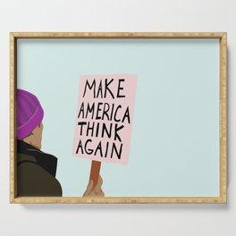Make America Think Again Serving Tray