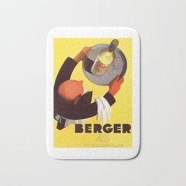Vintage Berger 45 Wine Advert - Circa 1935 Bath Mat