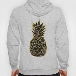Modern geometric gold pineapples design Hoody