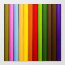 Pencil Crayones Canvas Print