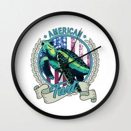 American Turt Patriotic Turtle Wall Clock