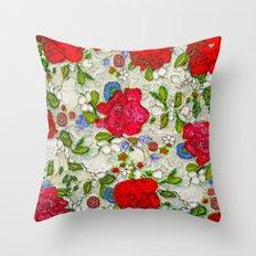 the garden of roses Throw Pillow