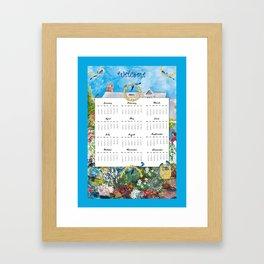 Welcome 2015 Calendar Framed Art Print