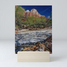 Virgin_River 8457 - Zion_National_Park, Utah Mini Art Print