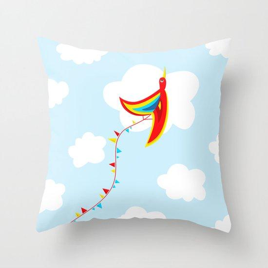 Kite Bird Throw Pillow