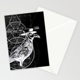 The Raven dark Stationery Cards