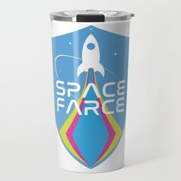 Space Force Space Farce Logo graphic parody Travel Mug