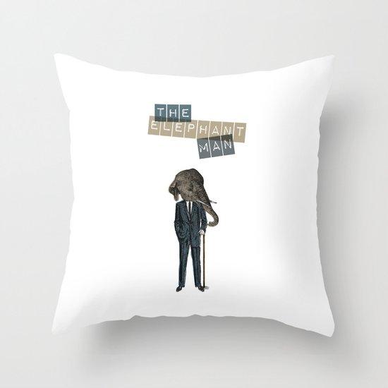 The elephant man Throw Pillow