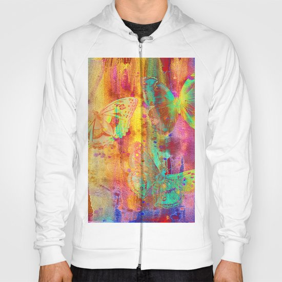 Colorful Butterfles Q Hoody