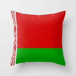 flag of belarus-belarusian,Minsk,Homyel,russia,snow,cold,chess,bear,rus,wheat,europe,easthern europe Throw Pillow