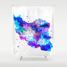 Iran Map Shower Curtain