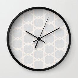 Interlock in Grey Wall Clock