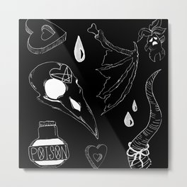 witches' basics negatives Metal Print