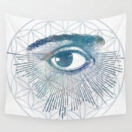 Mandala Vision Flower of Life Wall Tapestry