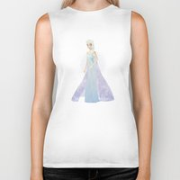 elsa Biker Tanks featuring Elsa by Maggins