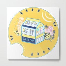Everyday Milk 매일 우유 Metal Print
