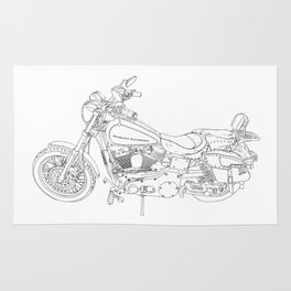 cycle drawing Rug