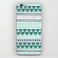 stripe iPhone & iPod Skins featuring Winter Stripe by Alice Rebecca Potter