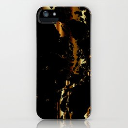 Black and Gold Marble Design iPhone Case