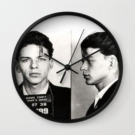Frank Sinatra Mug Shot  Wall Clock