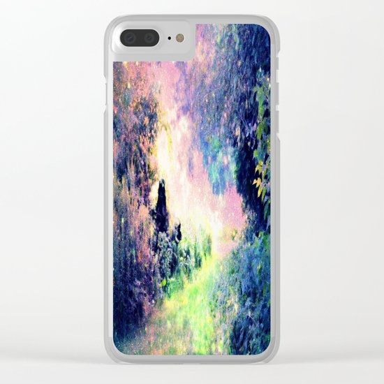Pastel Fantasy path Clear iPhone Case