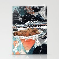 30 seconds to mars Stationery Cards featuring Seconds Behind by Sandra Dieckmann