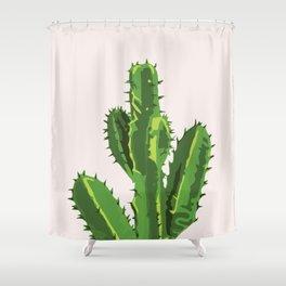 Desert Pride - Cereus Cactus pink and Green Shower Curtain