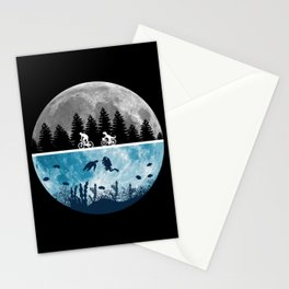 Close Encounters of the Moon Stationery Cards