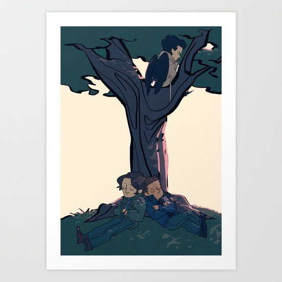 Lay Your Weary Head to Rest Art Print