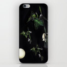 Three Witches on Brooms with the Moon.  iPhone Skin