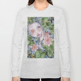 Watercolor doll in the water Long Sleeve T-shirt