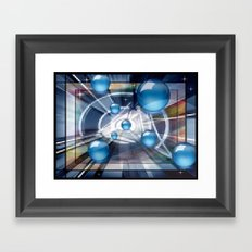 Subatomare Transmission. Framed Art Print