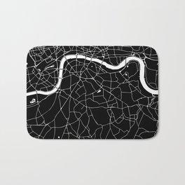 Black on White London Street Map II Bath Mat