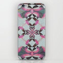 Organic Texture Mandala in Pink & Gray iPhone Skin
