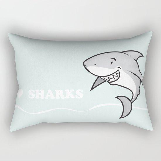 Great white buddy Rectangular Pillow