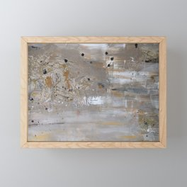 Silver and Gold Abstract Framed Mini Art Print