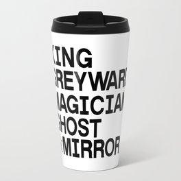 The Raven Cycle - Roles (black) Travel Mug