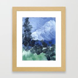 i reached into the sky Framed Art Print