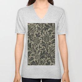 """William Morris """"Thistle"""" 10. Unisex V-Neck"""