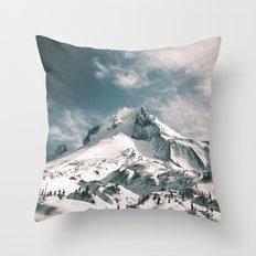 Mount Hood V Throw Pillow