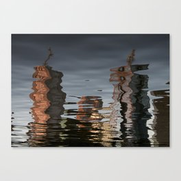 Melbourne Yarra Water Reflection Canvas Print
