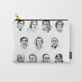 MAP Faces of Philosophy Poster Carry-All Pouch