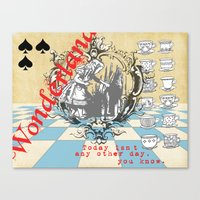 alice in wonderland Canvas Prints featuring Wonderland by TooShai Studios