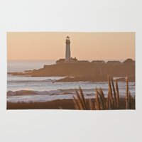 lighthouse Area & Throw Rugs featuring Lighthouse by Kim Ramage