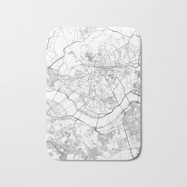 Seoul White Map Bath Mat